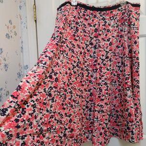 CJ Banks Floral Flouncy midi skirt